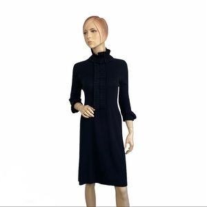 Georges Rech Black Pleated Knit Dress 3